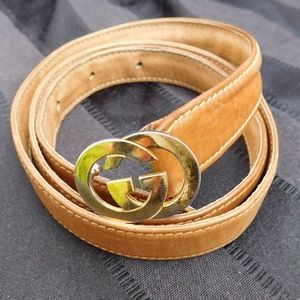 AUTHENTIC VINTAGE GUCCI THIN GG BUCKLE BELT